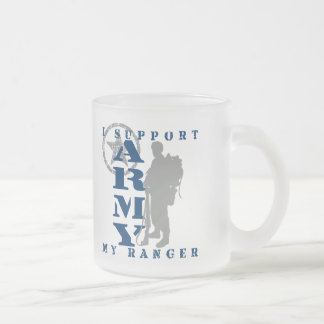 I Support Ranger 2 - ARMY 10 Oz Frosted Glass Coffee Mug