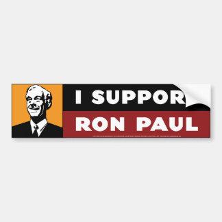 I Support Ron Paul - Orange Bumper Sticker