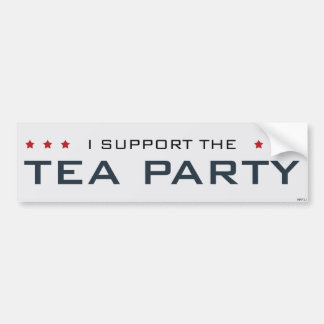 I Support The Tea Party Bumper Sticker