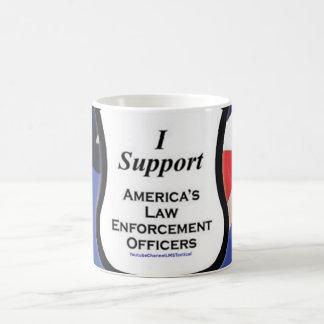 I support the thin blue line coffee mug
