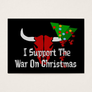 I Support War On Christmas Business Card
