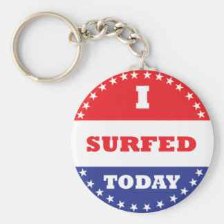 I Surfed Today Basic Round Button Keychain