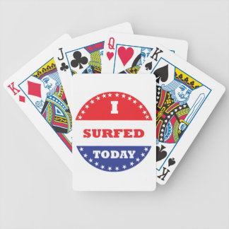 I Surfed Today Bicycle Playing Cards