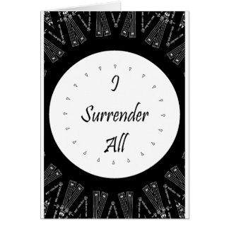 I Surrender All Stationery Note Card