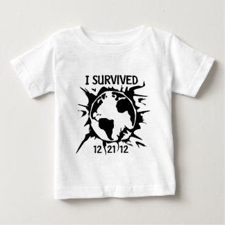 """""""I Survived 12-21-12"""" End of the World Baby T-Shirt"""