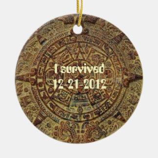 I survived 12-21-2012 Mayan Calendar Ornament