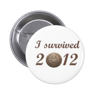 I survived 2012 pinback buttons