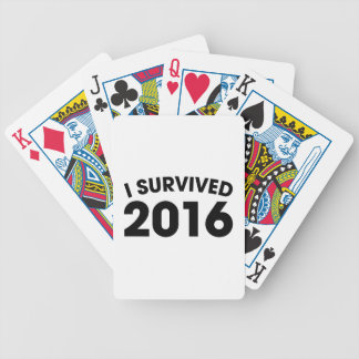 I Survived 2016 Bicycle Playing Cards