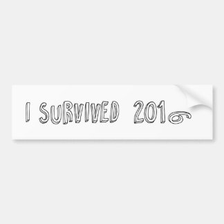 I survived 2016 bumper sticker