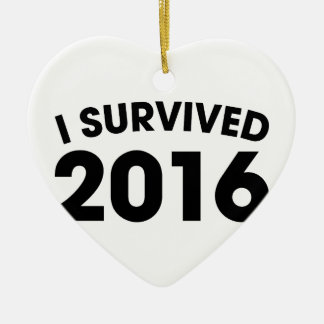 I Survived 2016 Ceramic Heart Ornament
