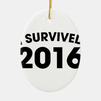 I Survived 2016 Ceramic Oval Ornament