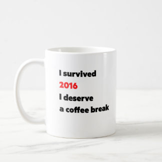 """I survived 2016"" coffee mug"