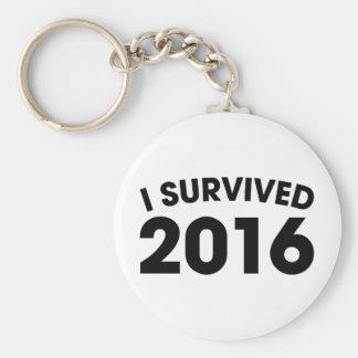 I Survived 2016 Keychain