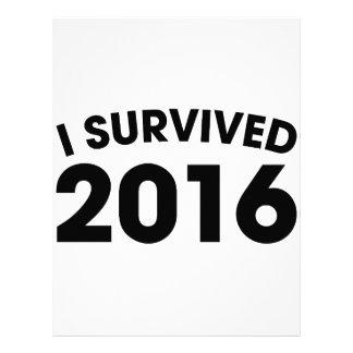 I Survived 2016 Letterhead