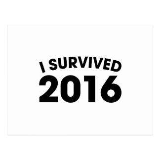 I Survived 2016 Postcard