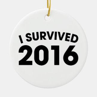 I Survived 2016 Round Ceramic Ornament