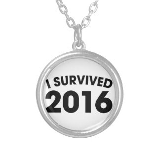 I Survived 2016 Silver Plated Necklace