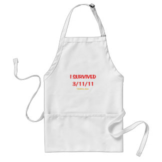 I Survived 3/11/11 (March 11, 2011) Adult Apron