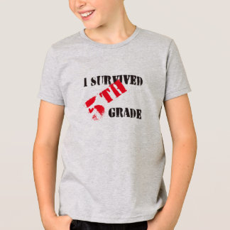 I Survived 5th Grade Boy's Light Tees