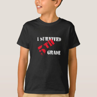 I Survived 5th Grade (Dark Tees) T-Shirt