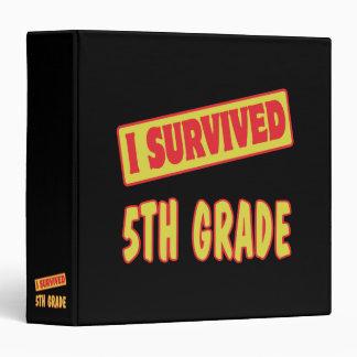 I SURVIVED 5TH GRADE VINYL BINDER