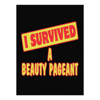 I SURVIVED A BEAUTY PAGEANT CUSTOM INVITATION