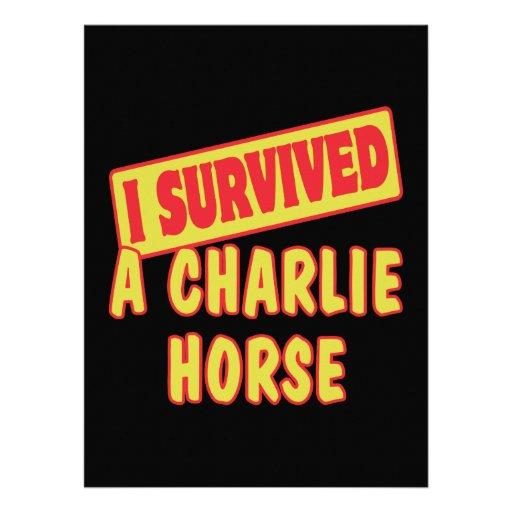 I SURVIVED A CHARLIE HORSE CUSTOM INVITATIONS