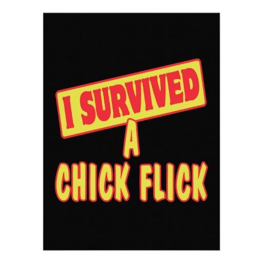 I SURVIVED A CHICK FLICK INVITE