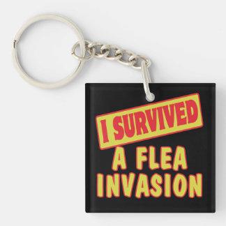 I SURVIVED A FLEA INVASION KEYCHAIN