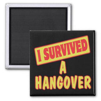 I SURVIVED A HANGOVER REFRIGERATOR MAGNET