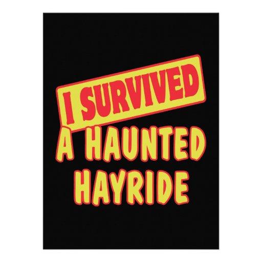 I SURVIVED A HAUNTED HAYRIDE INVITATION