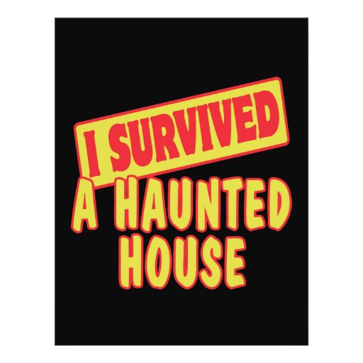 I SURVIVED A HAUNTED HOUSE FLYER DESIGN