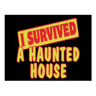 I SURVIVED A HAUNTED HOUSE POSTCARD