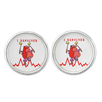 I survived a heart attack cuff links
