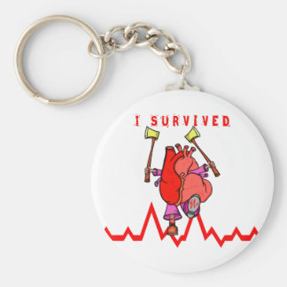 I survived a heart attack keychain