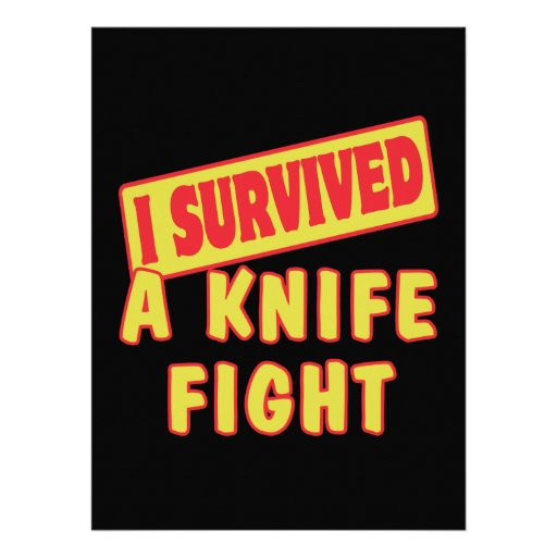 I SURVIVED A KNIFE FIGHT PERSONALIZED INVITES
