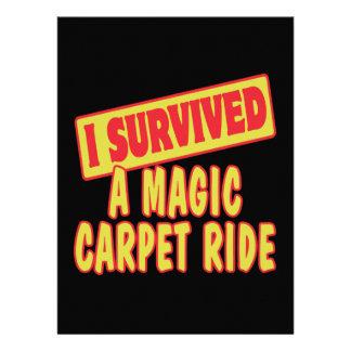 I SURVIVED A MAGIC CARPET RIDE CUSTOM INVITATION