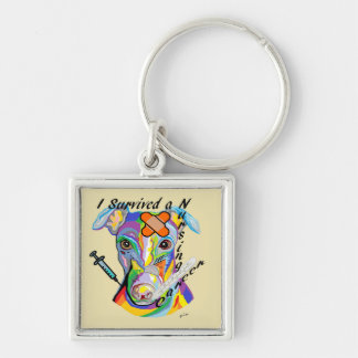 I Survived a Nursing Career Silver-Colored Square Keychain