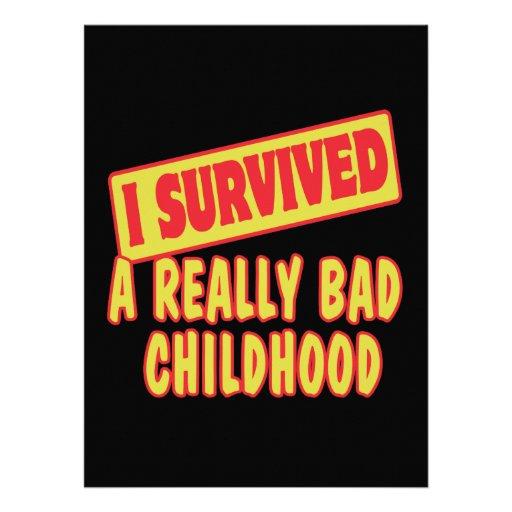 I SURVIVED A REALLY BAD CHILDHOOD INVITES