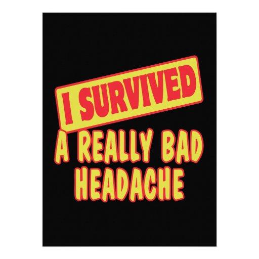 I SURVIVED A REALLY BAD HEADACHE CUSTOM INVITATIONS