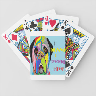 I Survived a Teaching Career Bicycle Playing Cards