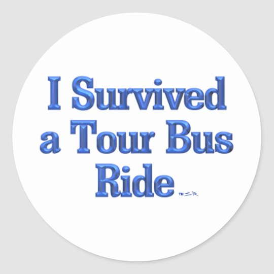 I Survived a Tour Bus Ride stickers