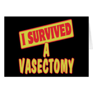 I SURVIVED A VASECTOMY CARD