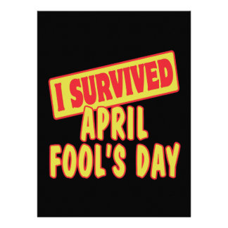 I SURVIVED APRIL FOOLS DAY PERSONALIZED INVITATION