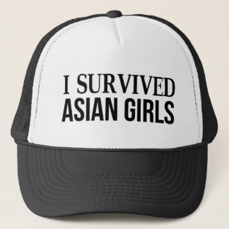 I Survived Asian Girls Trucker Hat