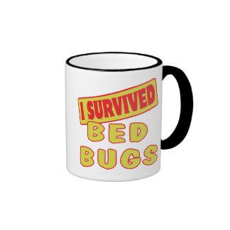 I SURVIVED BED BUGS RINGER COFFEE MUG