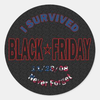 I Survived Black Friday Sticker