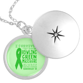 I Survived Bowling Green Massacre Silver Plated Necklace