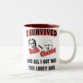 I Survived Bush and Cheney Two-Tone Coffee Mug