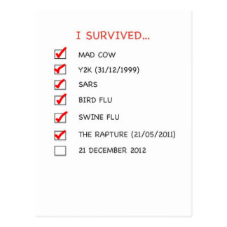 I Survived Checklist Postcard